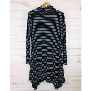 NWT Mossimo Supply Co. Stripped Turtle Neck Dress